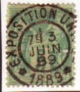 5c SAGE Obl EXPOSITION UNIVERSELLE 1889 , Paris , Assez Rare