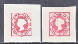 HELIGOLAND  CUT  SQUARES    * - Heligoland (1867-1890)