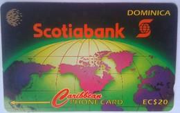 Dominica Phonecard EC$20 Scotiabank 8CDMA - Dominica