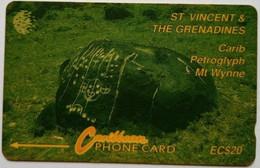 St Vincent Phonecard EC$20 Carib Petroglyph 9CSVB - St. Vincent & The Grenadines