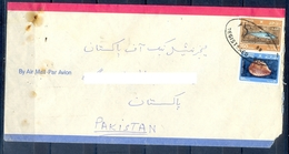 C218- Postal Used Cover. Posted From Oman To Pakistan. Shell. Fish. - Oman