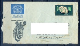C219- Postal Used Aerogramme. Posted From Kenya To Pakistan. Animals. Zebra. Grevy. Crystal. - Kenya (1963-...)