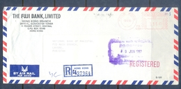 C233- Postal Used Cocer Of Hong Kong. Post To Pakistan. Metter Mark On Cover. - Hong Kong (1997-...)