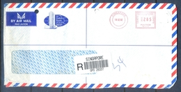 C235- Postal Used Cover Of Singapore. Metter Mark On Cover. - Singapore (1959-...)