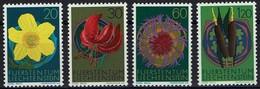 Liechtenstein 1972 - MiNr 560-563 - Einheimische Flora - Pflanzen Und Botanik