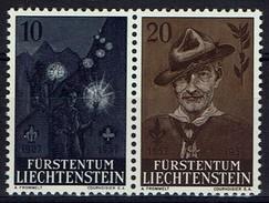 Liechtenstein 1957 - MiNr 360-361 - Pfadfinderbewegung - Robert Baden-Powell - Pfadfinder-Bewegung