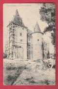 Ham-sur-Heure  - Le Château ... Travaux à Une Tour ... échafaudage -1906 ( Voir Verso ) - Ham-sur-Heure-Nalinnes