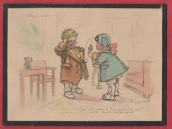 Cadre Germaine Bouret ... - Chez Le Docteur ....  - 24 Cm  / 17,5 Cm ( Voir Verso ) - Bouret, Germaine