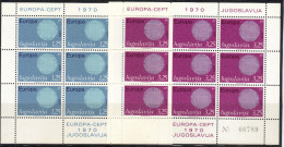 Yugoslavia,Europa CEPT 1970.,mini Sheets,MNH - 1945-1992 Socialist Federal Republic Of Yugoslavia