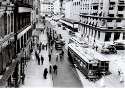 Reproduction: Genève, Rue Du Marché ( Station Molard) Vers 1930 BVA - Tranvía