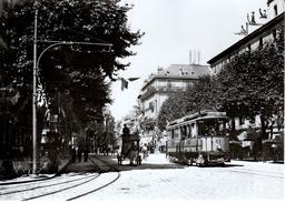 Reproduction: Genève, Cours De Rive Ce 2/4 No 61 (état D'origine) Vers 1905 BVA - Tranvía