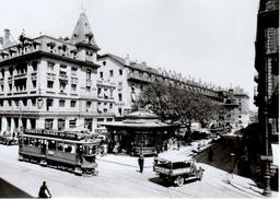 Reproduction: Genève, Rue Du Marché (Station Du Molard), Ce 2/4 64, Avril 1934 BVA - Tranvía