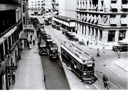 Reproduction:Genève, Rue Du Marché (station Du Molard) Ce 2/4 No161, Vers 1930, BVA - Tranvía