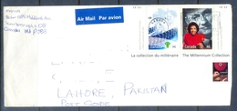 C253- Postal Used Cover Of Canada. Post To Pakistan. Millennium.Famous People. - Canada