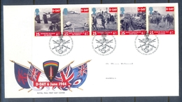 C256- FDC Of England. UK. U.K. D-Day. War. Flags. - Other