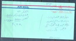 C263- Post From Saudi Arabia To Pakistan Meter Mark Stamp. - Saudi Arabia