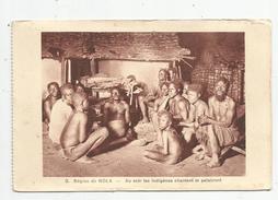 Cp , REPUBLIQUE CENTRAFRICAINE , Région De NOLA , Au Soir Les Indigénes Chantent Et Palabrent , Vierge , Ed : Braun - Central African Republic