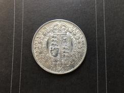 HALF CROWN - 1/2 Crown - 1890 - Victoria - Jubilee -  SILVER ARGENTO - 1816-1901 : Coniature XIX° S.