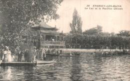 95 ENGHIEN LES BAINS LE LAC ET LE PAVILLON CHINOIS CIRCULEE - Enghien Les Bains
