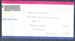 C266- Post From Saudi Arabia To Pakistan Meter Mark Stamp. - Saudi Arabia