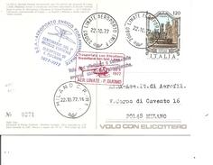 Hélicoptères -Décollage Vertical ( Carte Commémorative D'Italie De 1977 à Voir) - Helikopters