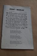 Saint-Nicolas,Sint-Niklaas,partition,L.Dessainte Et E.Jouret,Revue L'éducateur Belge 1959 - Vieux Papiers