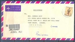 C272- Post From UAE. United Arab Emirates To Pakistan. Birds. Falcon. Eagle. - United Arab Emirates