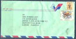 C277- Post From UAE. United Arab Emirates To Pakistan. Birds. Delphinus Fish. - United Arab Emirates