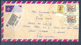 C278- Post From UAE. United Arab Emirates To Pakistan. Birds. Delphinus Fish. - United Arab Emirates