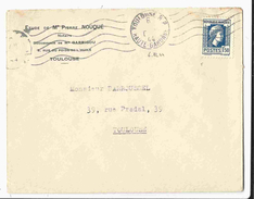 1944 - N° 639 - Marianne D'Alger 1f50 Sur Lettre De Toulouse - 1944 Gallo E Marianna Di Algeri