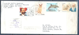 C288- Post To Pakistan. Cat. Fish. Flag. Famous People. Cuba - Cuba