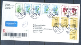 C296- Post To Pakistan. Flowers. Plants. Hungary. - Hungary