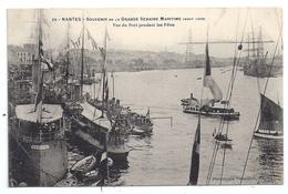 CPA Nantes 44 Loire Atlantique Souvenir Grande Semaine Maritime Août 1908 Vue Du Port Pendant Les Fêtes - Nantes