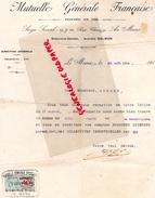 72- LE MANS- MUTUELLE GENERALE FRANCAISE- 18 RUE CHANZY- AUGUSTE SALMON- 1916 - Bank & Insurance