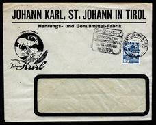 A4673) Österreich Austria Werbebrief Von Johann In Tirol 1934 Steinbock - 1918-1945 1. Republik