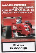 MARLBORO MASTERS Of FORMULA 3 -2003- Zandvoort, Holland - FERRARI, Robert Doornbos, PEARLE ALFA 147 GTA Etc. - Programmes