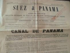 Journal Bulletin Suez Et Panama 25/01/1888 Quelques Déchirures 8 Pages - Giornali