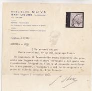 AUTRICHE  RARE VARIETE  SIGNE ET CERTIFICAT - 1850-1918 Imperium