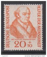Allemagne RFA N° 100 *** Bienfaiteurs De L'Humanité : Docteur Samuel Hahnemann - 1955 - Unused Stamps