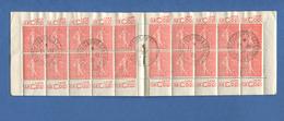 199 C 2 Carnet Pub 20 Timbres  Semeuse 50 C Le Coq Cacher Exposition Philatélique 1928 BELFORT BUMSEL - Usage Courant