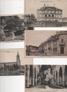 54 BACCARAT  LOT DE 5 CARTES  RUE DES PONTS PENSIONNAT DE GONDRECOURT EGLISE ROCHERS DES MOINES - Baccarat