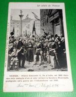 Cartolina Vicenza - Re Vittorio Emanuele II Decora La Bandiera Municipale 1904 - Vicenza