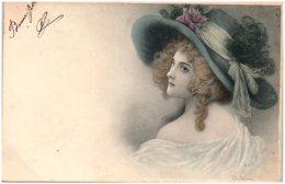 WICHERA - Femme Au Chapeau   (Recto/Verso) - Wichera