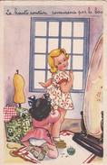 """Thèmes >  Illustrateurs Non Signés Enfants """" La Haute Couture Commence Par Le Bas """" - 1900-1949"""
