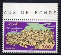 -75% Sur La Cote Algérie Algeria Timbre 1980 Neuf** Y&T 723 Solidarité Avec Les Sinistrés Du Séisme D'El-Asnam - Argelia (1962-...)
