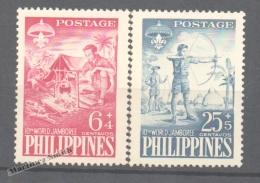 Philippines - Filipinas 1959 Yvert 477-78, 10th Jamboree Of Manila - MNH - Philippines