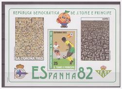 0220 Sao Tome 1982 Voetbal Soccer Spain 1982 S/S MNH - Wereldkampioenschap