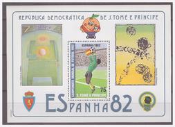 0221 Sao Tome 1982 Voetbal Soccer Spain 1982 S/S MNH - Wereldkampioenschap