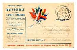 MP253 - CARTE EN FRANCHISE CIVILS MILITAIRES - TRESOR ET POSTES 175 - Marcophilie (Lettres)