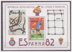 0219 Sao Tome 1982 Voetbal Soccer Spain 1982 S/S MNH - Wereldkampioenschap